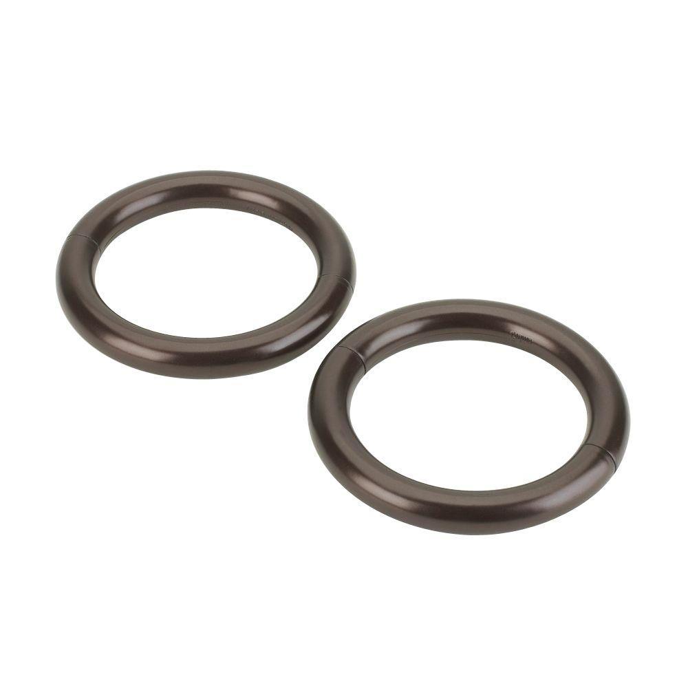 4.5 in. Halo Magnetic Holdback in Bronze (2-Pack)