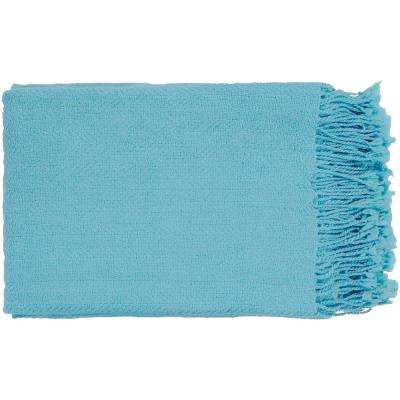 Simone Sky Blue Acrylic Throw