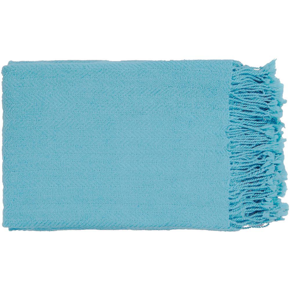 Simone Sky Blue Acrylic Throw