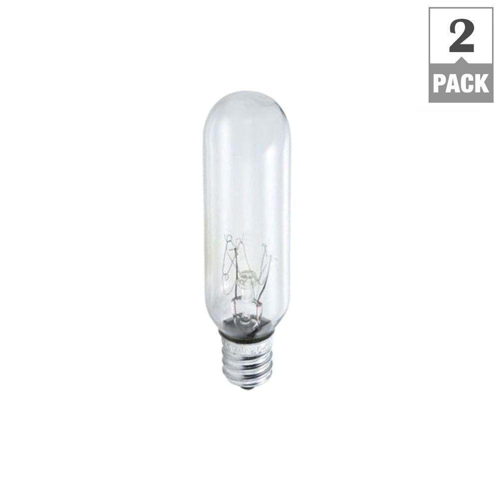 Philips 15-Watt T6 Incandescent Tubular Exit Light Bulb (2-Pack ...