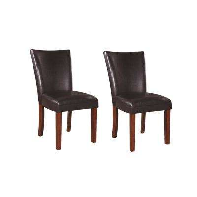 Nessa Collection Brown Parson Chair (Set of 2)