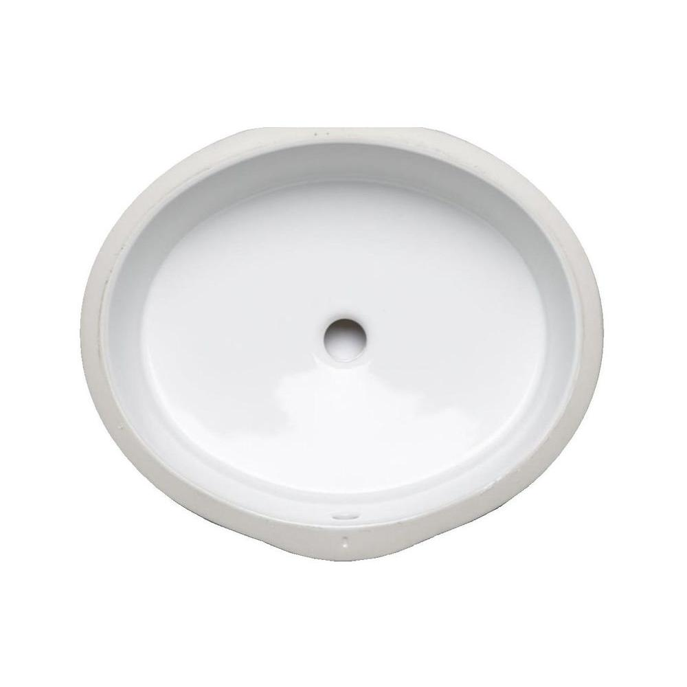 KOHLER Verticyl Oval Vitreous China Undermount Bathroom Sink In White With  Overflow Drain
