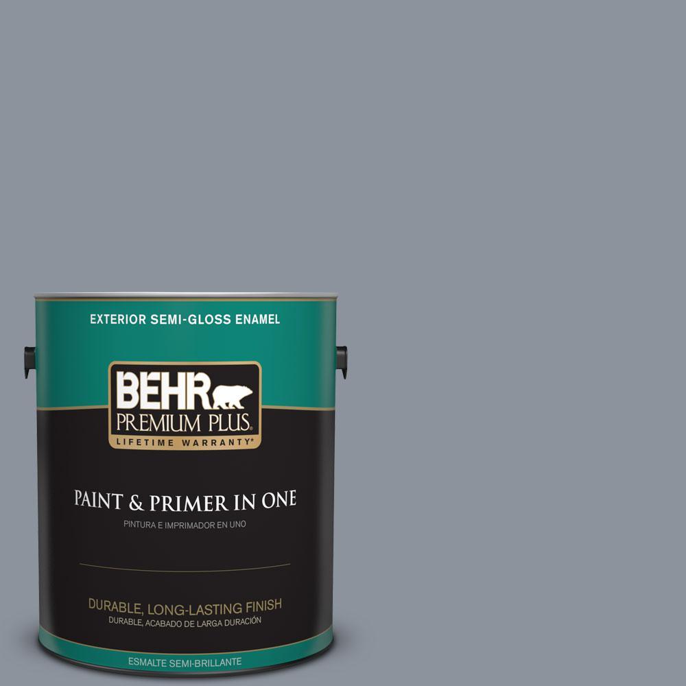 1 gal. #HDC-AC-26A Lilac Fields Semi-Gloss Enamel Exterior Paint