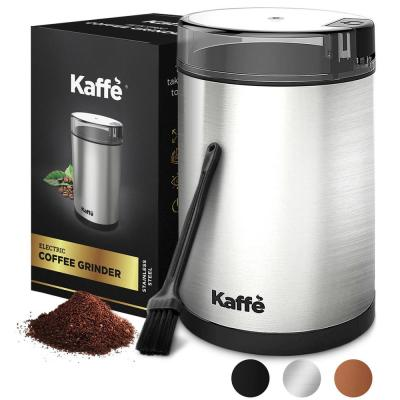 KF2020 Electric Coffee Grinder by Kaffe - Stainless Steel 2.5 oz. Capacity with Easy On/Off Button