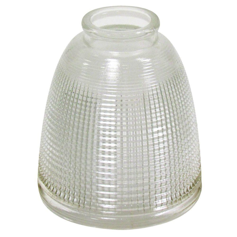 Westinghouse 5-1/8 in. Clear Holophane Fixture Shade with 2-1/4 in. Fitter and 4-5/8 in. Width