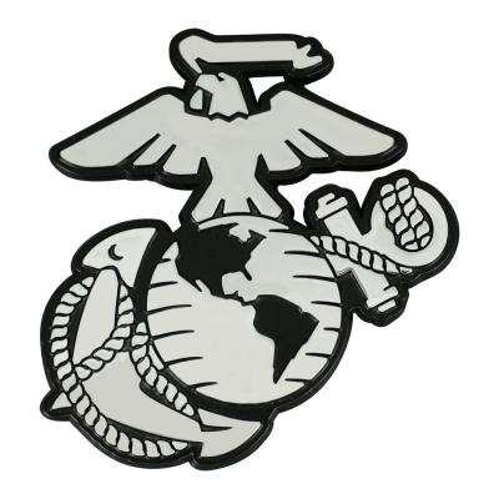 U.S. Marines 3 in. x 3.2 in. Chrome Emblem