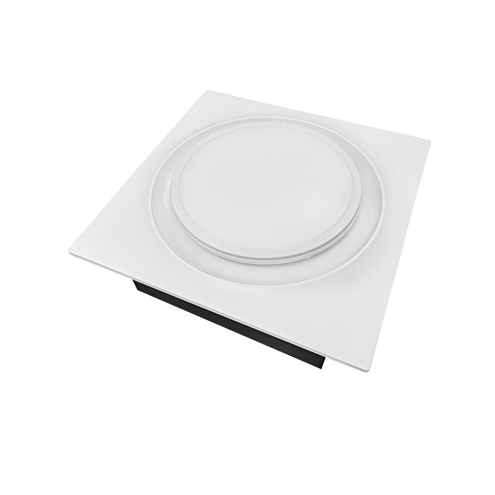 Aero Pure Quiet Adjustable 50-80-110 CFM White Energy Star Bathroom Exhaust Fan with LED Light/Nightlight 0.4 Sones