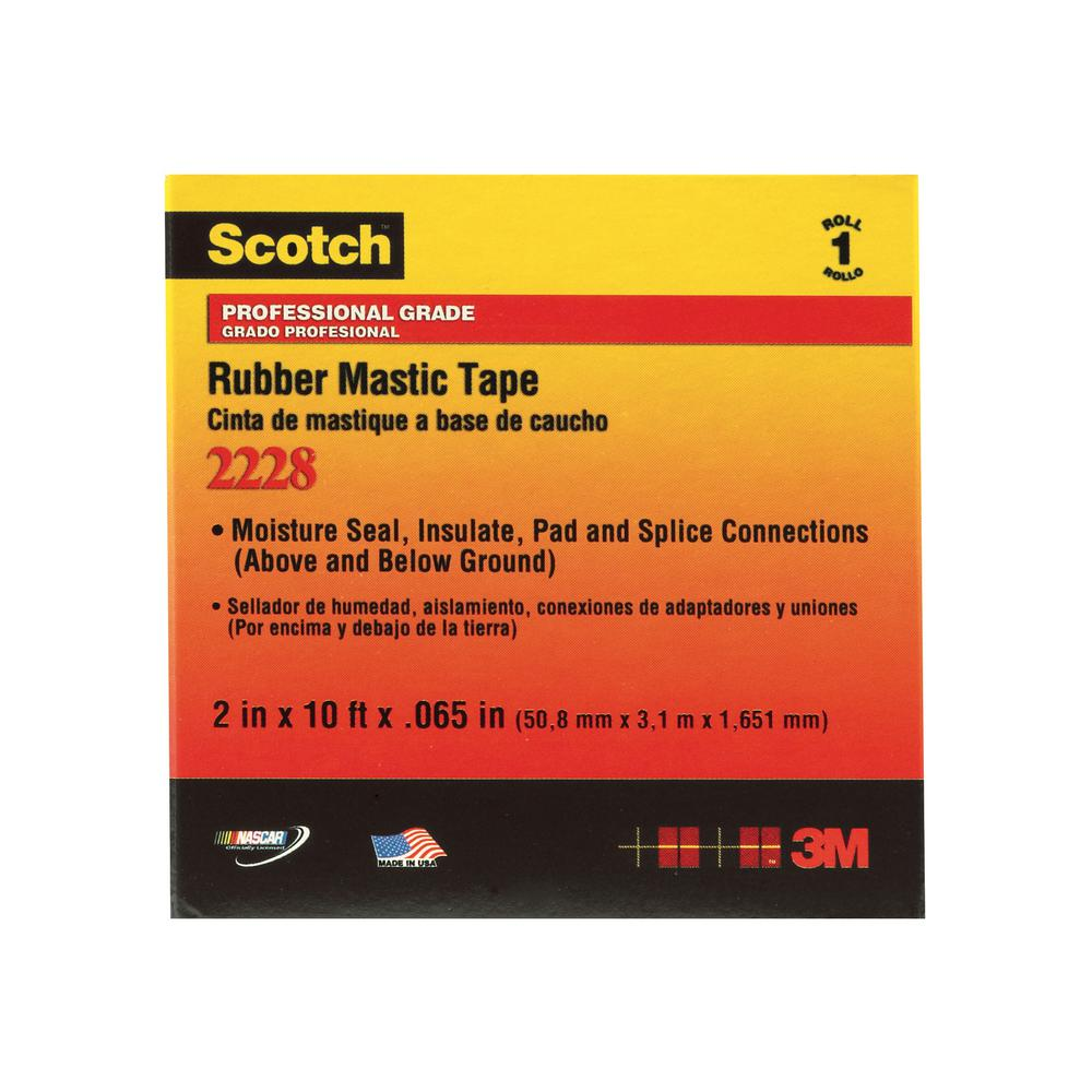 Scotch 1 in. x 10 ft. x 0.065 in. 2228 Rubber