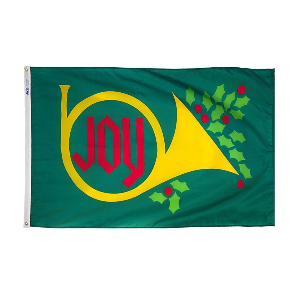 3 ft. x 5 ft. Nylon Joy Horn Flag
