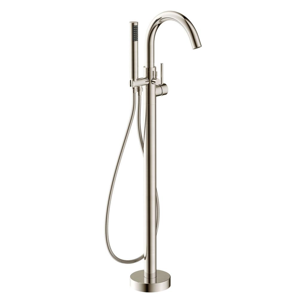 Kros Series 2-Handle Freestanding Claw Foot Tub Faucet with Hand Shower