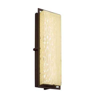 Fusion Avalon Large Dark Bronze Integrated LED Outdoor Wall Sconce with Droplet Shade