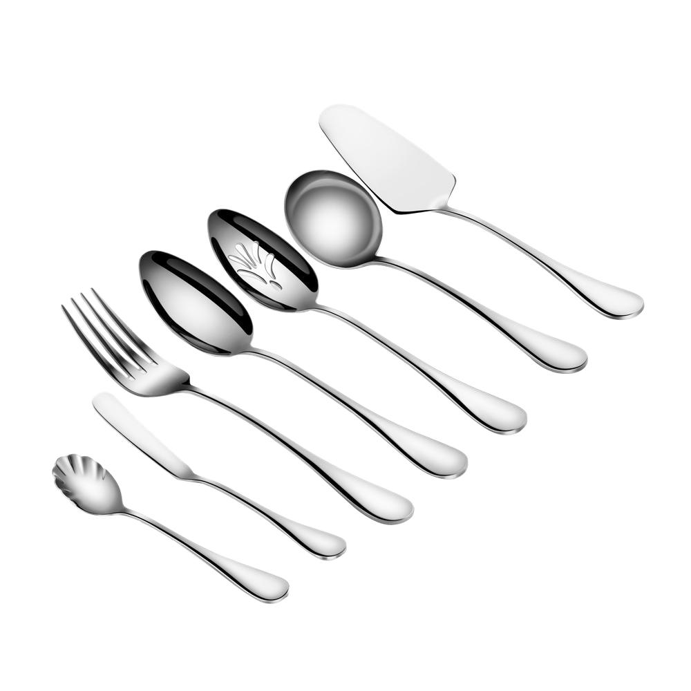 Rain 7-Piece 18/10 Stainless Steel Hostess Set