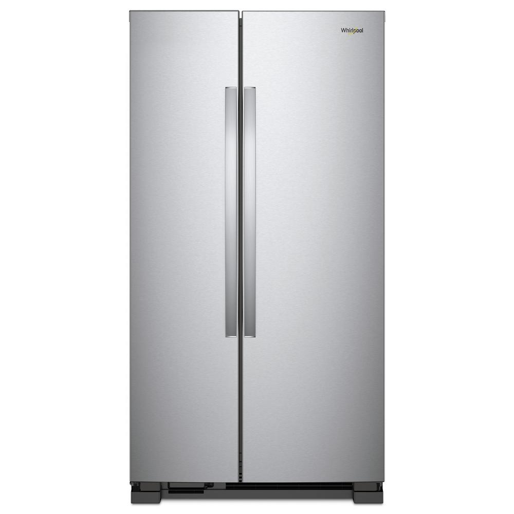 Side By Refrigerator In Monochromatic Stainless Steel