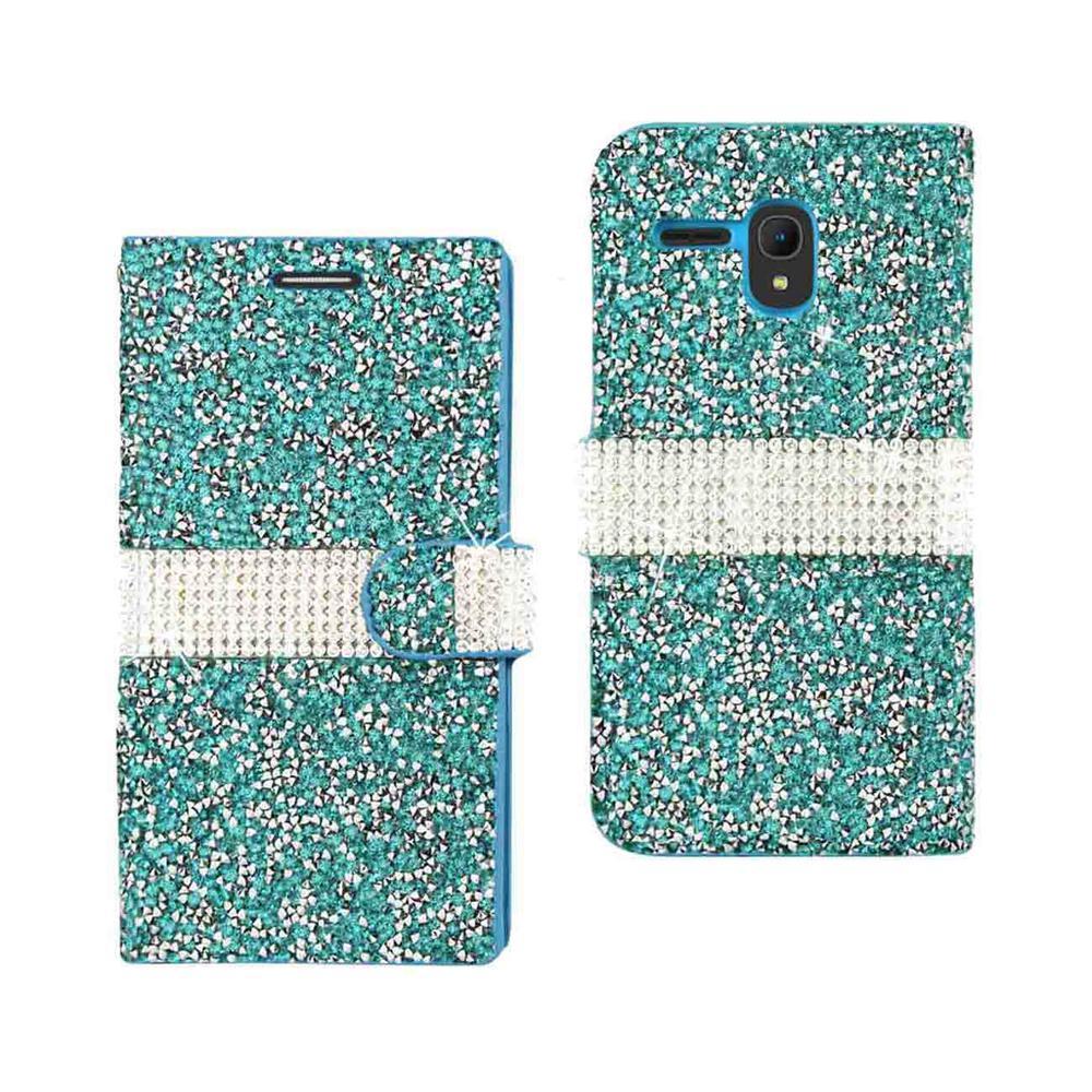 buy popular fb15d 8ea09 REIKO Alcatel One Touch Fierce Xl Folio Case in Blue