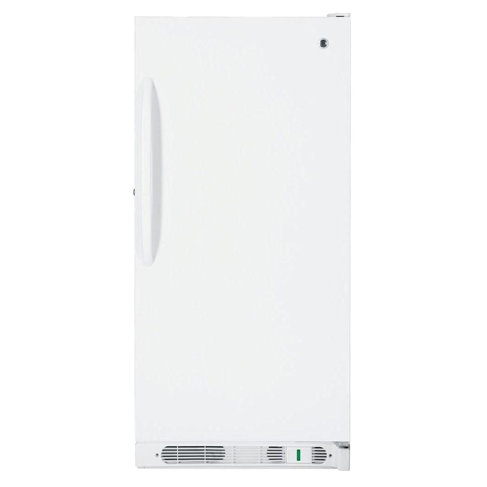 GE 14.1 cu. ft. Upright Freezer in White