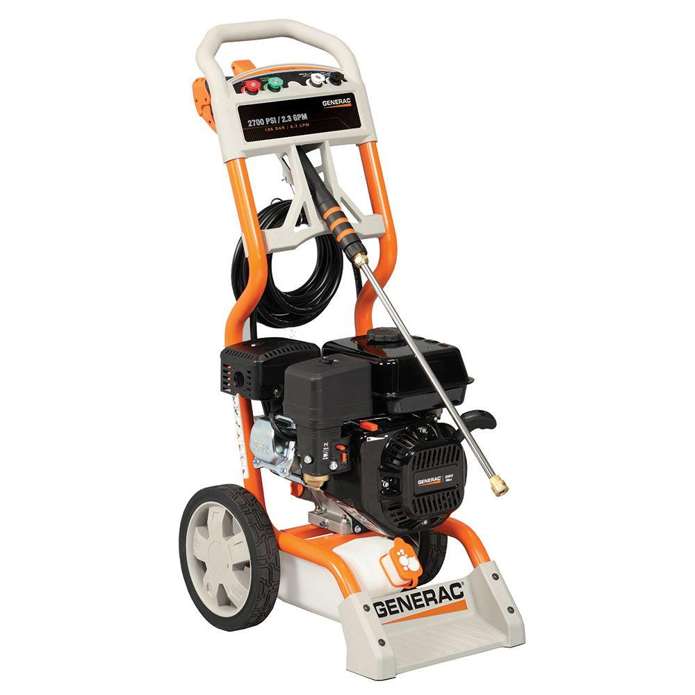 Generac 2700 psi 2.3 GPM OHV Engine Axial Cam Pump Gas Powered Pressure Washer - California Compliant-DISCONTINUED