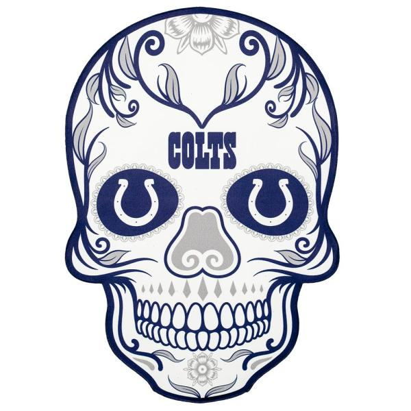 Applied Icon NFL Indianapolis Colts Outdoor Skull Graphic- Large NFOS1403