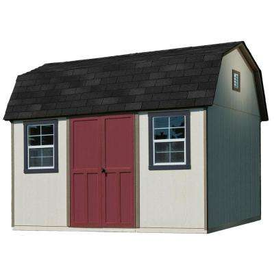 12 ft. x 8 ft. Installed Briarwood Deluxe Wood Storage with Upgrades and Black Onyx Shingles Shed