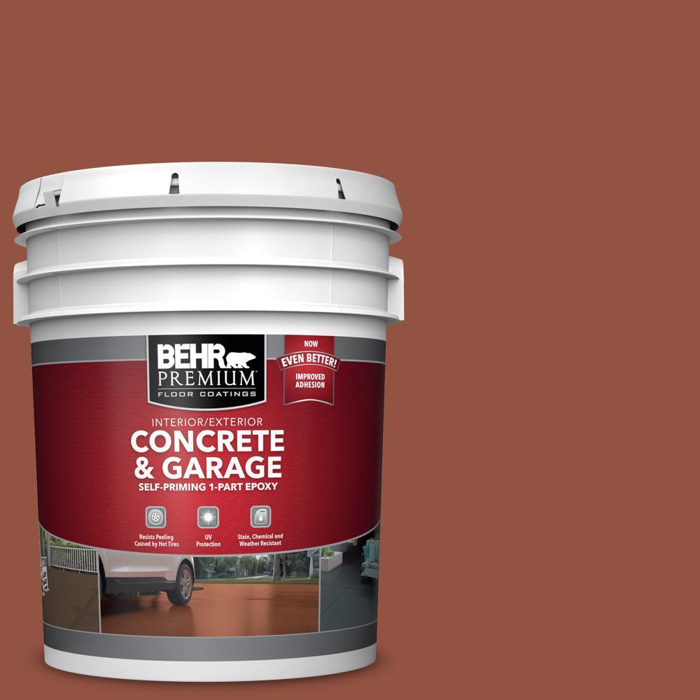 BEHR PREMIUM 5 gal. #SC-130 California Rustic Self-Priming 1-Part Epoxy Satin Interior/Exterior Concrete and Garage Floor Paint