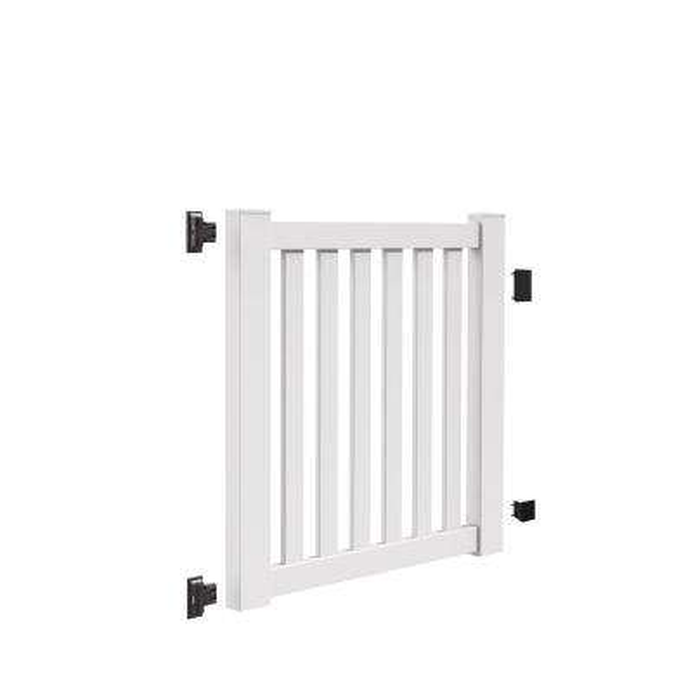 Ohio 4 ft. W x 4 ft. H White Vinyl Un-Assembled Fence Gate