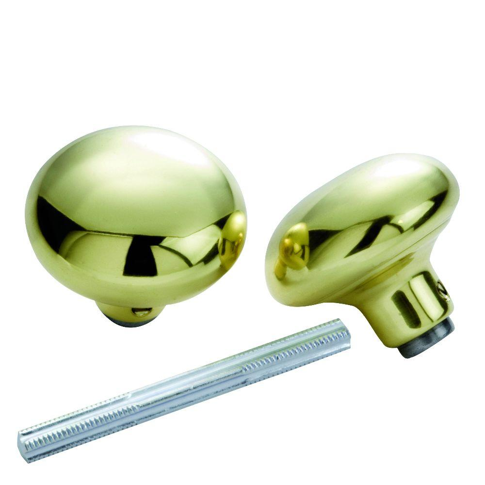 First Watch Security Solid Brass Knob Set With Spindle