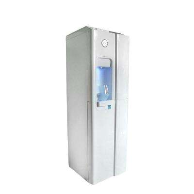 Standup Bottleless Water Cooler in Ice White with Installation Kit