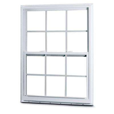 50 Series Single Hung Fin Vinyl Window with Grilles