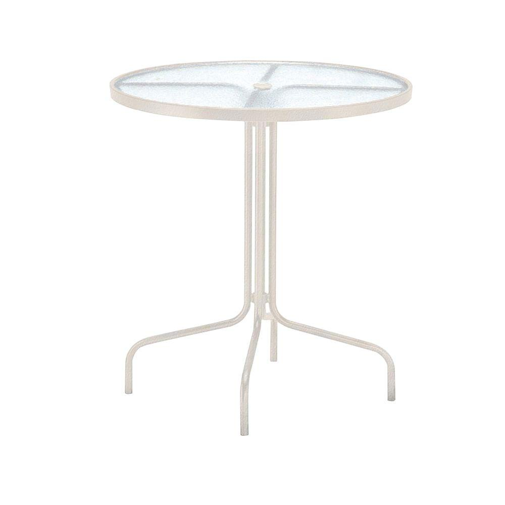 36 in. Antique Bisque Acrylic Top Commercial Patio Bar Table