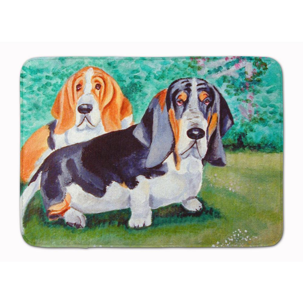 19 in. x 27 in. Basset Hound Double Trouble Machine Washable