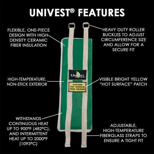Unitherm Univest Insulation Jacket High Temperature 13 In L X 6 In W Insulation Wrap Uvst1306 The Home Depot