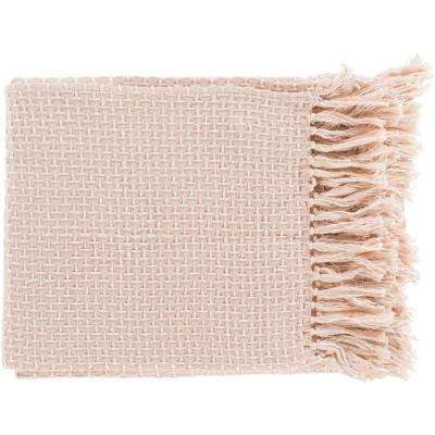 Tullio Pastel Pink Cotton Blend Throw