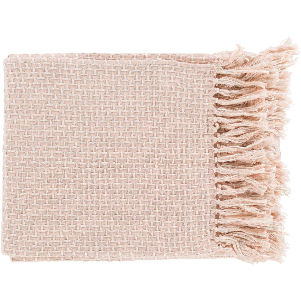 Tullio Pastel Pink Cotton Blend Throw