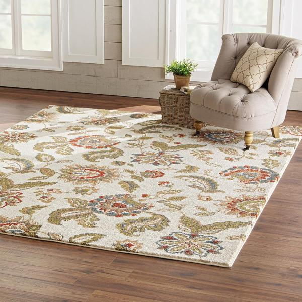 Home Decorators Collection Lucy Cream 8 Ft X 10 Ft Area Rug 557423 The Home Depot