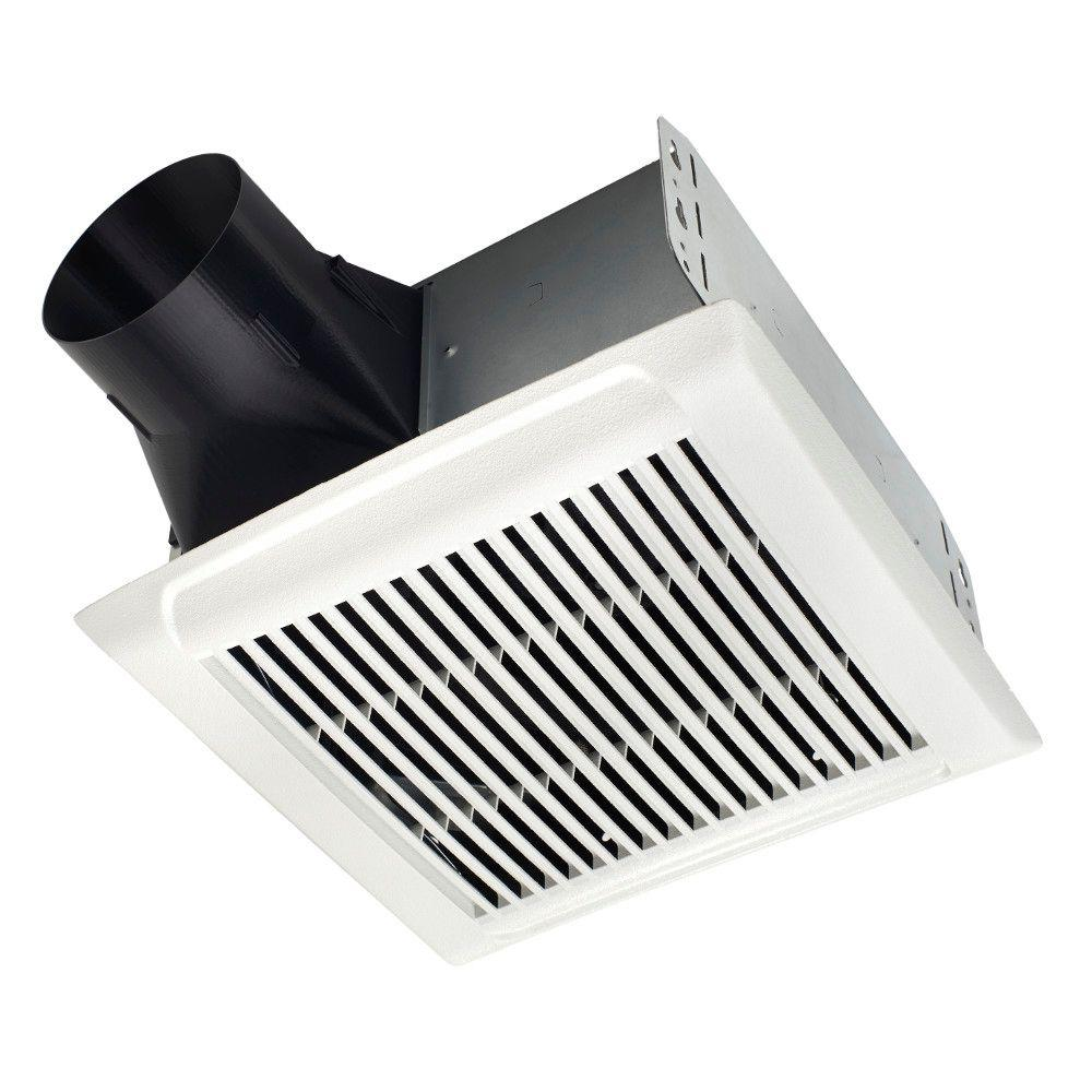 Nutone invent series 80 cfm ceiling bathroom exhaust fan arn80 the home depot for Installation of bathroom exhaust fan