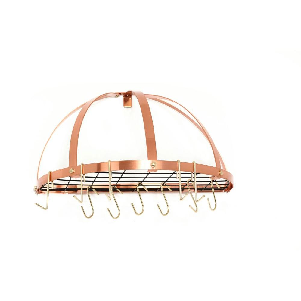 Old Dutch 22 in. x 11 in. x 22 in. Satin Copper Pot Rack
