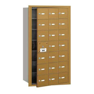 Gold USPS Access Front Loading 4B Plus Horizontal Mailbox with 21A Doors (20 Usable)