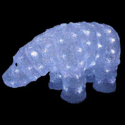 8 in. Juvenile Polar Bear Decoration with LED Lights