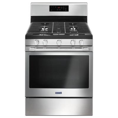 5.0 cu. ft. Gas Range with 5th Oval Burner in Fingerprint Resistant Stainless Steel