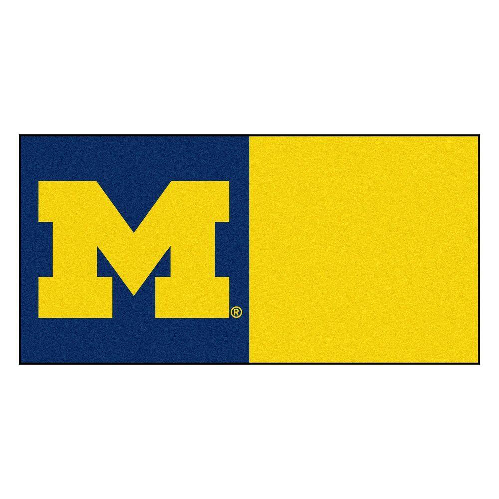 NCAA - University of Michigan Navy Blue and Gold Nylon 18