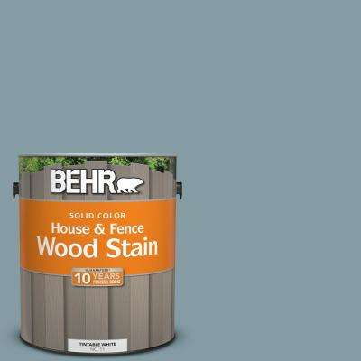 1 gal. #540F-4 Shale Gray Solid Color House and Fence Exterior Wood Stain