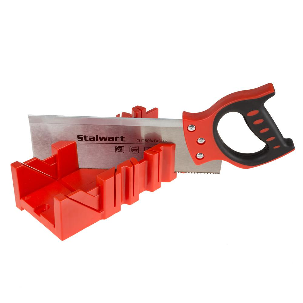 Stalwart 12 in. Backsaw with Mitre Box
