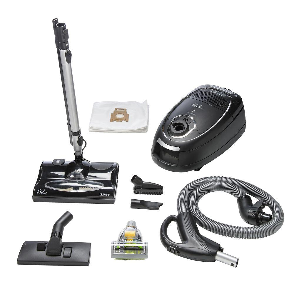 prolux stealth 2 quiet hepa multi carpet and hard floor canister vacuum the home depot