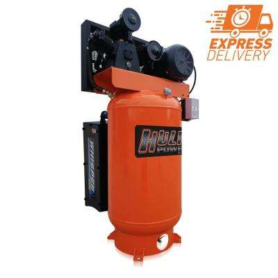 Industrial Series 80 Gal. 5 HP 1-Phase Stationary Silent Electric Air Compressor