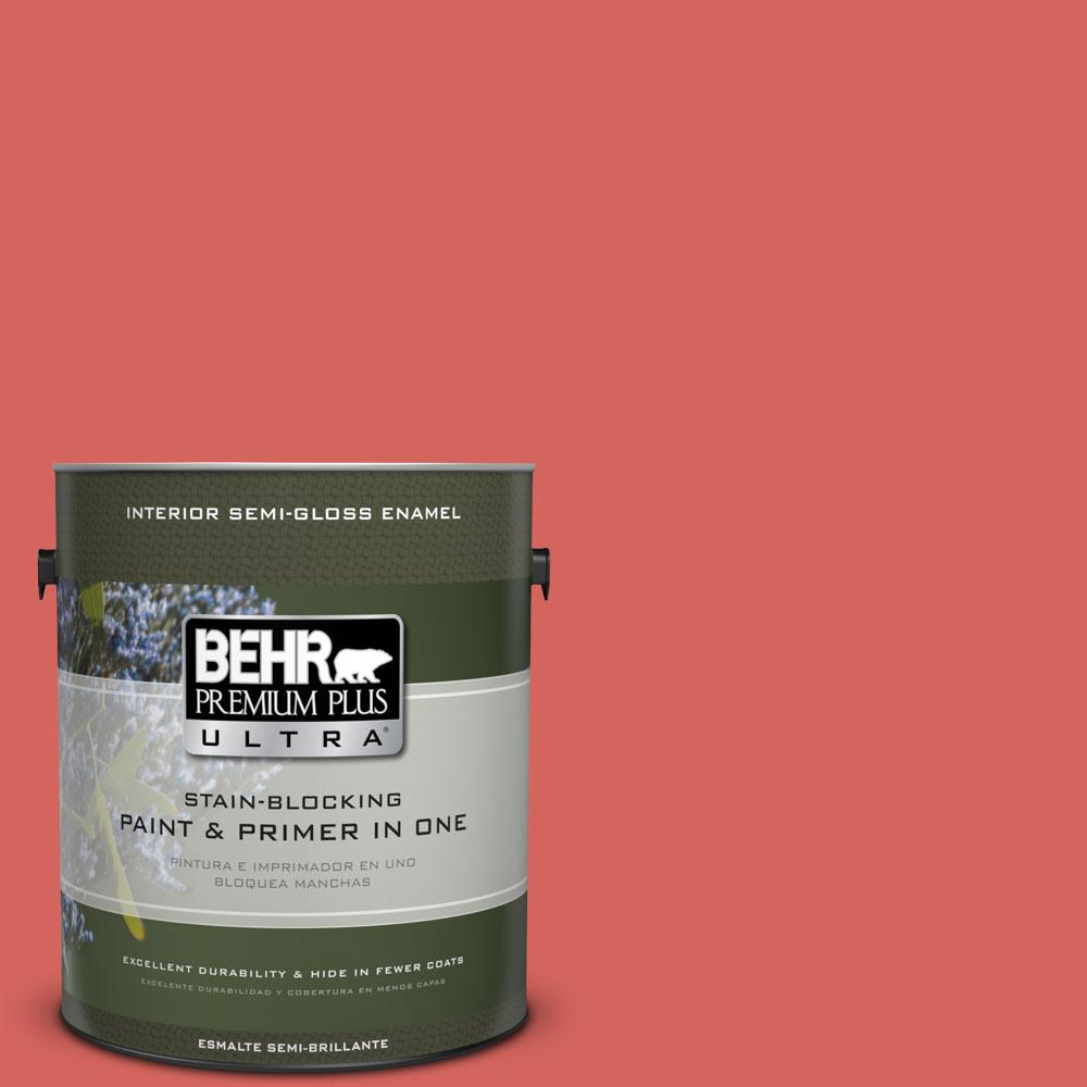 BEHR Premium Plus Ultra Home Decorators Collection 1-gal. #HDC-MD-05 Desert Coral Semi-Gloss Enamel Interior Paint