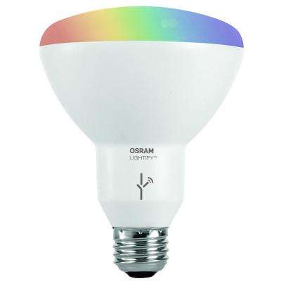65W Equivalent Multi-Color and Adjustable White BR30 SMART LED Light Bulb