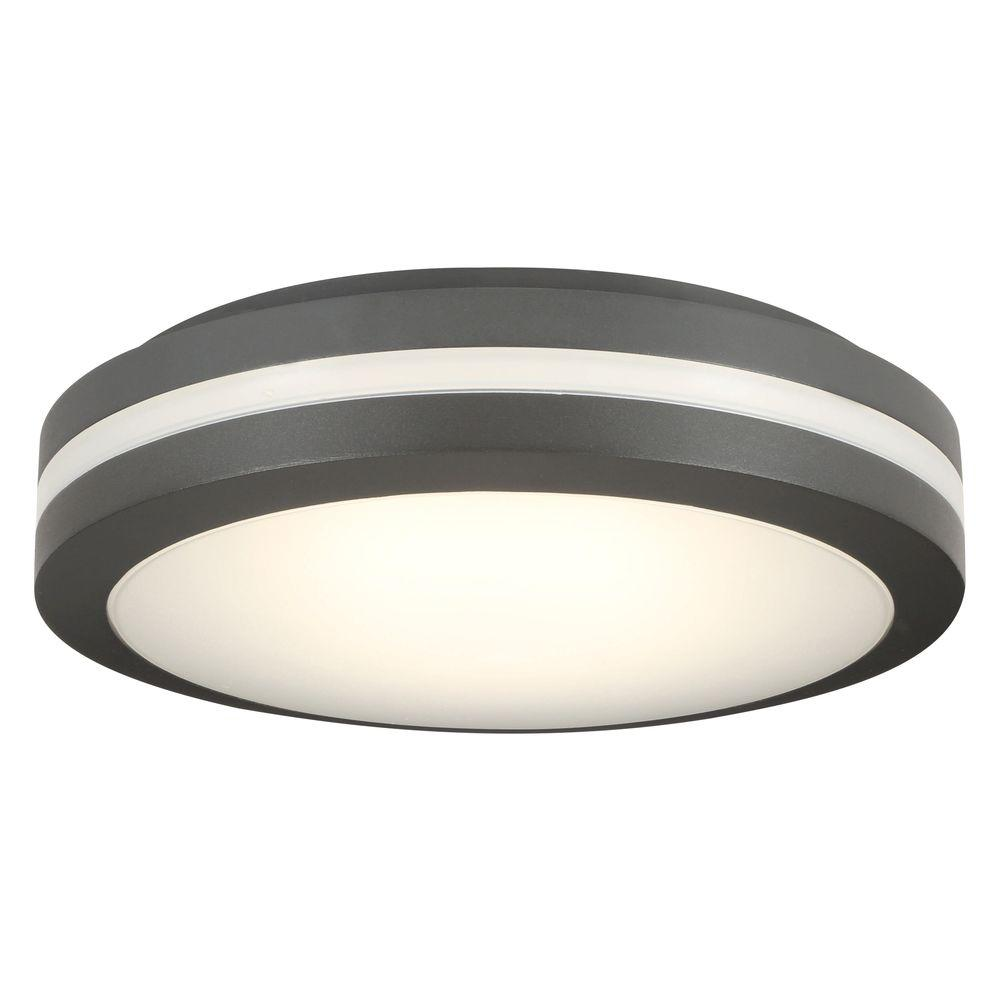 Lithonia Lighting Olcfm 16 6 Watt Bronze Integrated Led Outdoor Ceiling Flush Mount