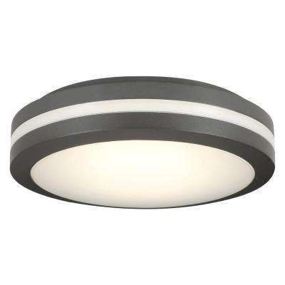OLCFM 16.6-Watt Bronze Integrated LED Outdoor Ceiling Flush Mount