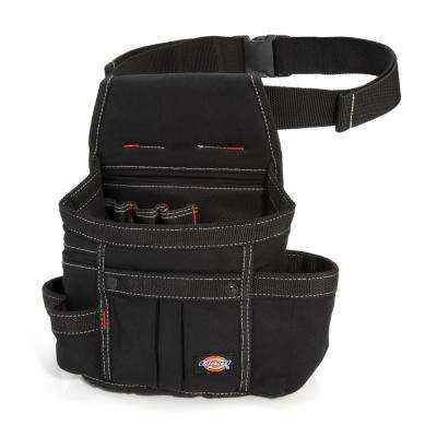 8-Pocket Utility Pouch Construction Tool Holder in Black