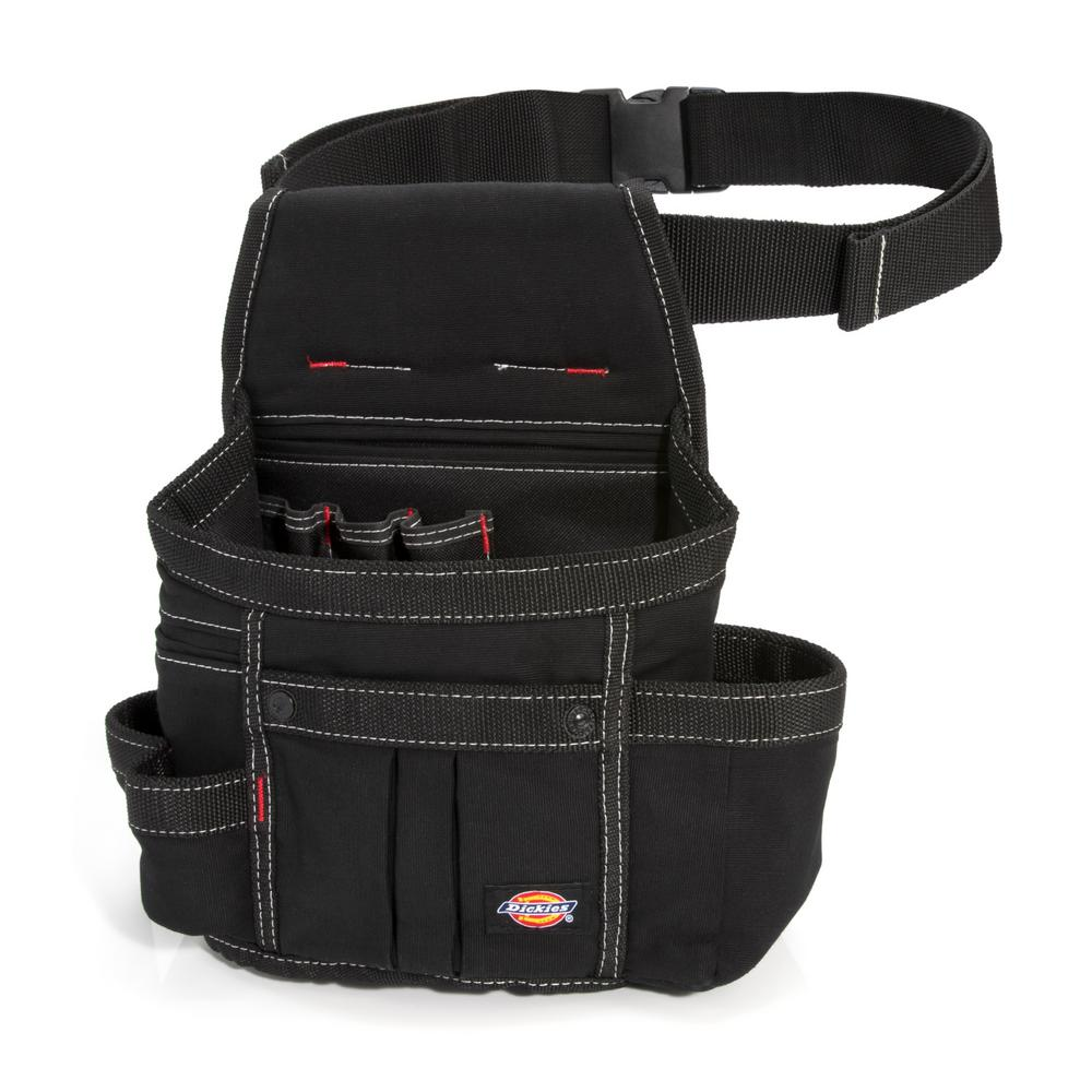 Dickies 8-Pocket Utility Pouch Construction Tool Holder in Black