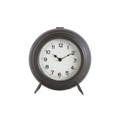 Bronze Metal Mantel Clock